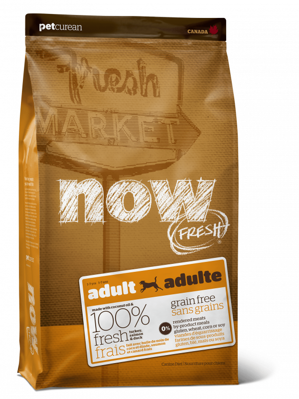 Now Fresh Беззерновой для Взрослых собак с Индейкой, Уткой и овощами (Fresh Adult Recipe Grain Free 26/16)