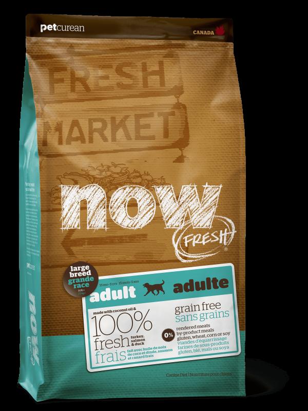Now Fresh Беззерновой для Взрослых собак Крупных пород с Индейкой, Уткой и овощами (Fresh Adult Large Breed Recipe Grain Free 27/13)