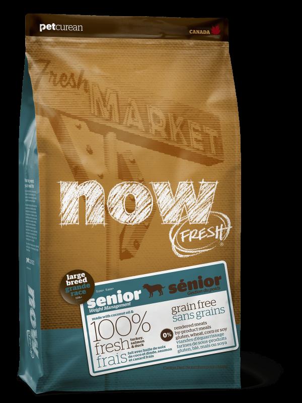 """Now Fresh Беззерновой корм для Собак Крупных пород """"Контроль веса"""" с Индейкой, Уткой и овощами (Fresh Senior Large Breed Recipe Grain Free 25/11)"""