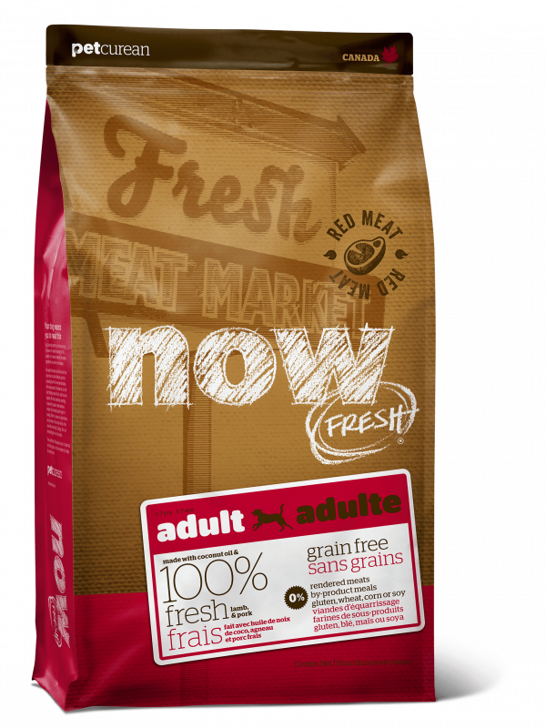 Now Fresh Беззерновой для Взрослых собак со свежим мясом Ягненка (Grain Free Red Meat Adult Recipe DF 24/16)
