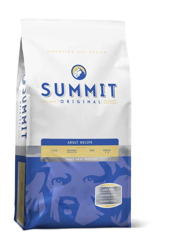 Summit Original Для собак три вида мяса c Цыпленком, Лососем и Ягненком (Original Three Meat, Adult Recipe DF 22/9)