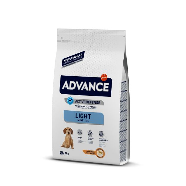 Advance Mini Light Для собак Малых пород Контроль веса с Курицей и рисом