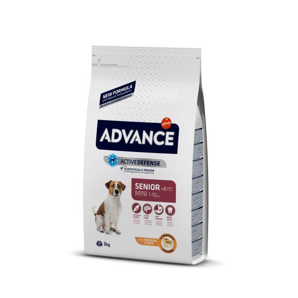 Advance Mini Senior Для пожилых собак малых пород с курицей и рисом