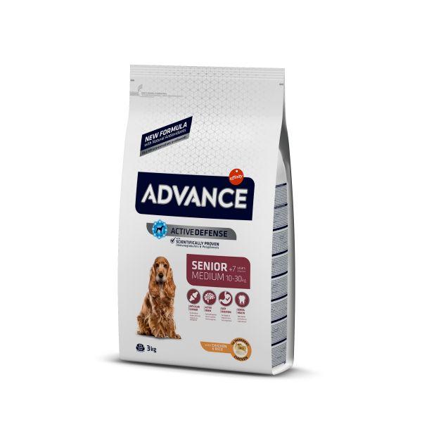 Advance Medium Senior Для пожилых собак средних пород с Курицей и рисом