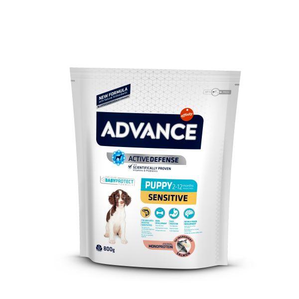 Advance Puppy Sensitive для Щенков с Чувствительным пищеварением: Лосось и рис