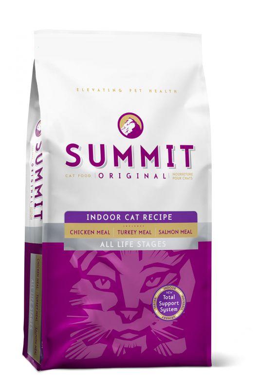 Summit Original Три вида мяса: с Цыпленком, Лососем и Индейкой - Все стадии жизни сухой корм для Кошек и Котят (Original 3 Meat, Indoor Cat Recipe CF 34/11)