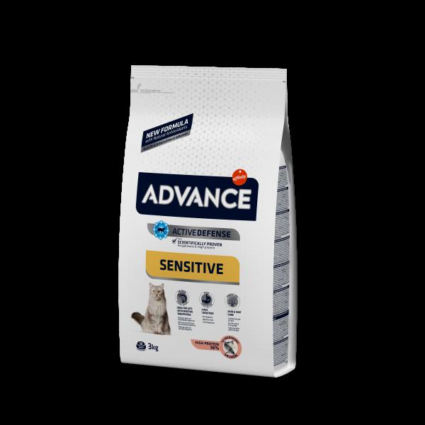 Advance Adult Salmon Sensitive Для кошек с чувствительным пищеварением: Лосось и рис