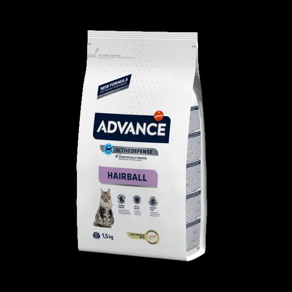Advance Hairball Для вывода Шерсти у кошек: Индейка и рис