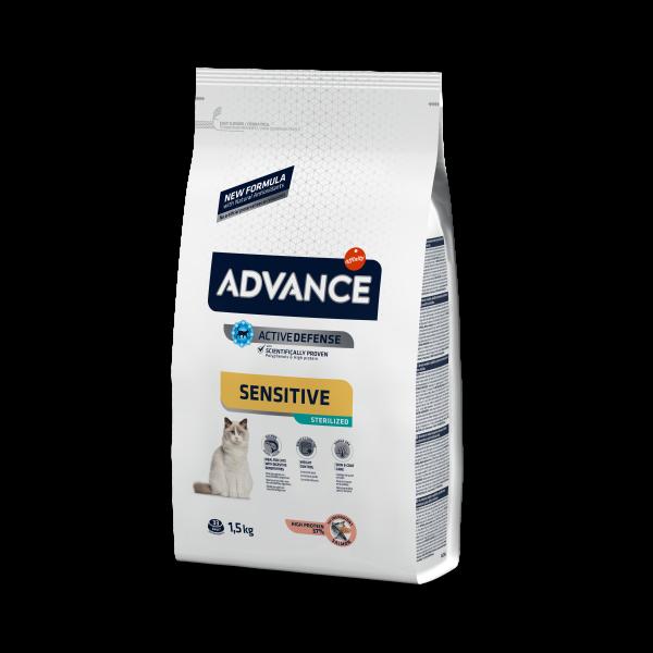 Advance Sterilized Sensitive (Salmon) Для стерилизованных кошек с Лососем