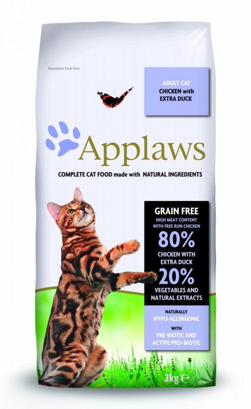 """Applaws Беззерновой сухой корм для Взрослых кошек """"Курица, Утка и овощи"""""""
