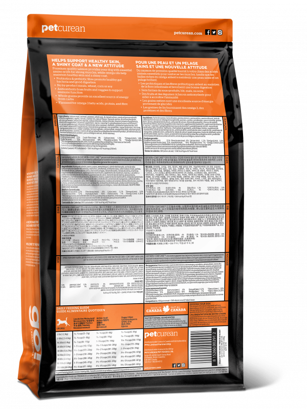 GO! Solitions для Щенков и Собак со свежим Лососем и овсянкой (GO! SKIN + COAT Salmon Recipe with Grains DF 22/12)