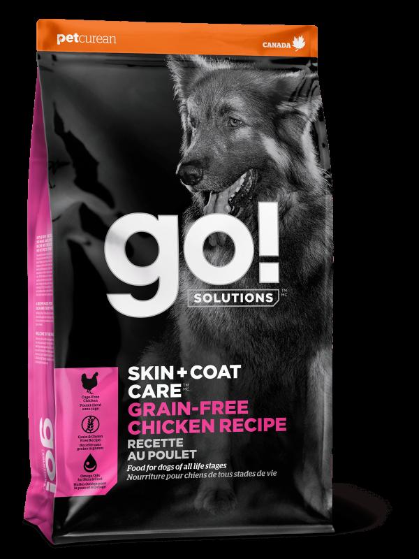 GO! Solutions Беззерновой для Собак всех возрастов с Цельной Курицей (GO! SKIN + COAT Grain Free Chicken Recipe DF 26/14)