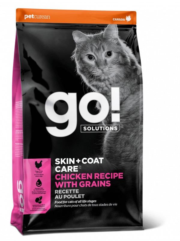 GO! Solutions Для Котят и Кошек с Цельной Курицей, фруктами и овощами (Skin+Coat Chicken Cat Recipe 32/20)