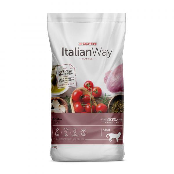 Italian Way Sensitive Duck Беззерновой корм для кошек с Чувствительным пищеварением со свежей Уткой