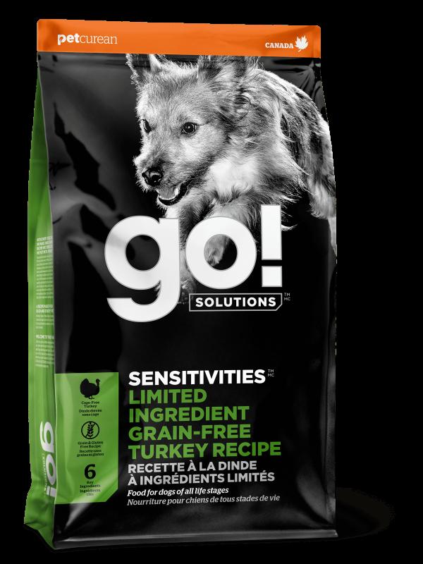 GO! Solitions Беззерновой для Щенков и Собак с Индейкой для чувств. пищеварения (GO! SENSITIVITIESLimited Ingredient Grain FreeTurkey Recipe DF 26/14)