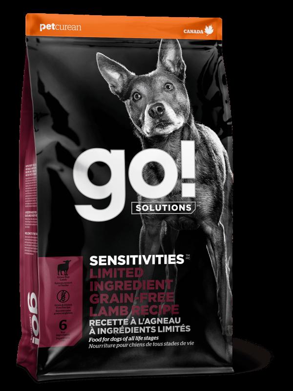 GO! Solutions Беззерновой для Щенков и Собак с Ягненком для чувстительного пищеварения (GO! SENSITIVITIES Limited Ingredient Grain FreeLamb Recipe DF 24/12)