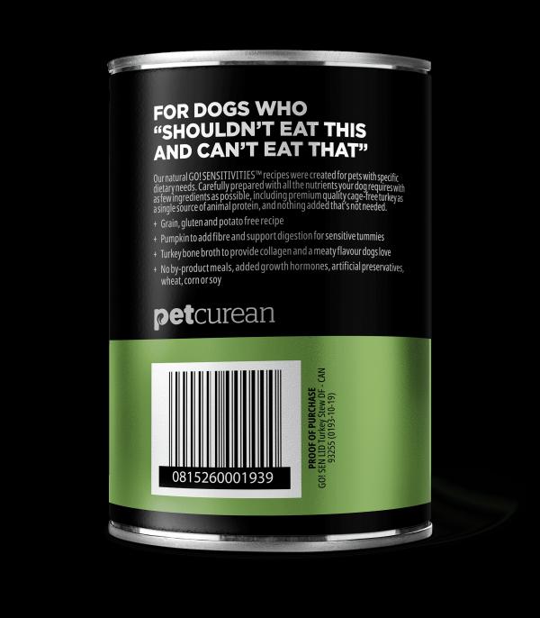 GO! Solutions Консервы беззерновые с Индейкой для собак всех возрастов (GO! Sensitivities Limited Ingredient GF Turkey Stew DF)