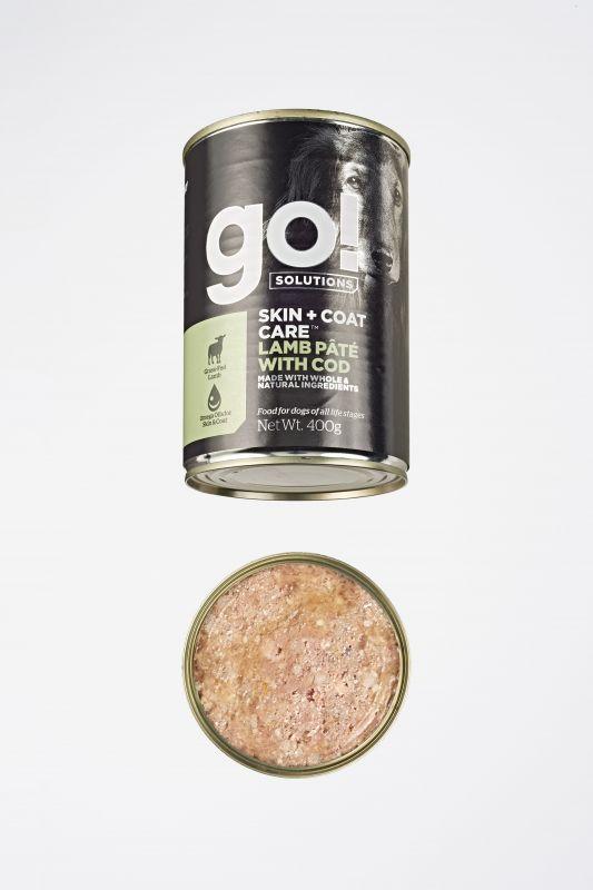 GO! Solutions Консервы с Ягненком и Треской для собак всех возрастов (GO! Skin + Coat Lamb Pate with Cod DF)