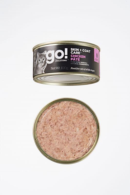 Go! Solutions Консервы с Курицей для кошек всех возрастов (GO! Skin + Coat Chicken Pate CF)