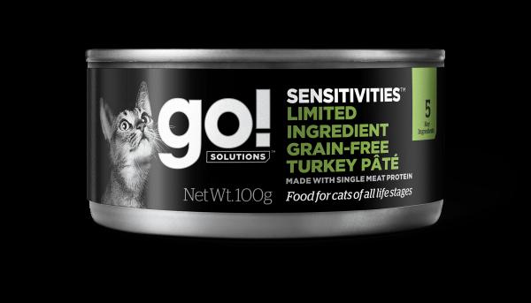 Go! Solutions Консервы беззерновые с Индейкой для кошек всех возрастов с чувствительным пищеварением (GO! Sensitivities Limited Ingredient GF Turkey Pt for cats)