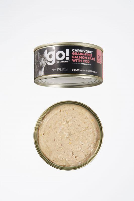 Go! Solutions Консервы беззерновые с Лососем и Треской для кошек всех возрастов (GO! Carnivore GF Salmon Pate with Cod CF)