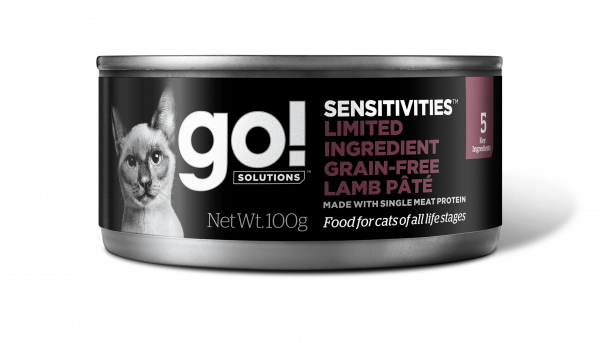 Go! Solutions Консервы беззерновые с Ягненком для кошек всех возрастов с чувствительным пищеварением (GO! Sensitivities Limited Ingredient GF Lamb Pate CF)
