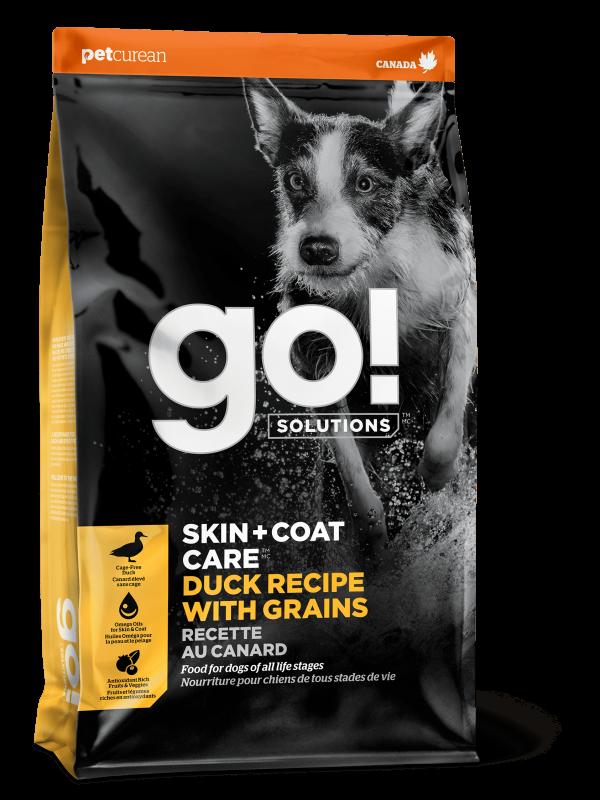 GO! Solitions Для Щенков и Собак с Цельной Уткой и овсянкой (GO! SKIN + COAT CARE Duck Recipe With Grains 22/12)