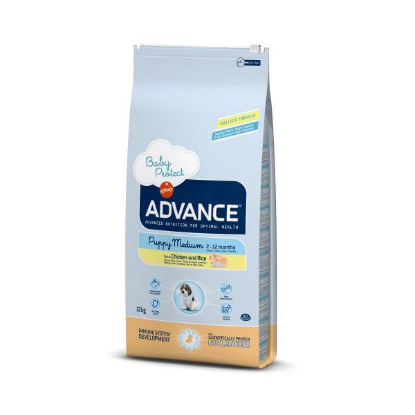 Advance Baby Protect Medium Для щенков Средних пород Курица и рис