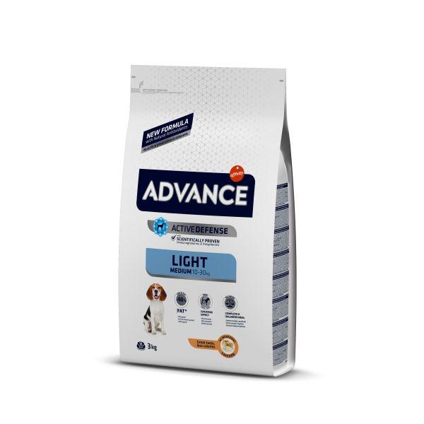 Advance Medium Light Контроль веса Сухой корм Для собак с Курицей и рисом
