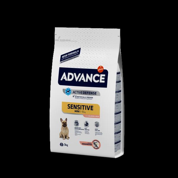 Advance Mini Sensitive для собак Малых пород с Чувствительным пищеварением Лосось и рис
