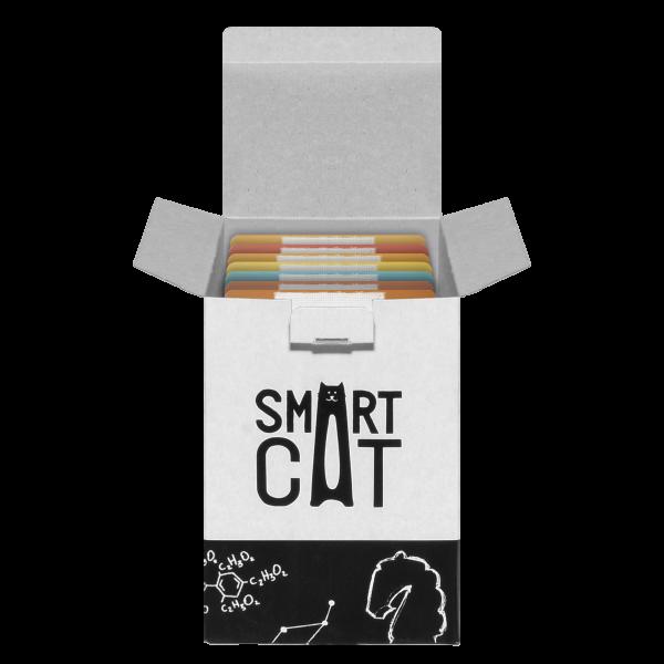 Smart Cat Ассорти из 8 вкусов Набор паучей в нежном соусе для взрослых Кошек и Котят