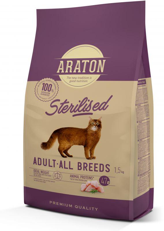 Araton Sterilised Сухой корм для стерилизованных кошек с мясом птицы