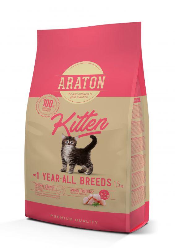 Araton Kitten Сухой корм для Котят с мясом птицы
