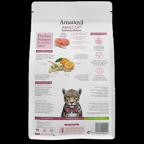"Amanova Adult Salmon Deluxe сухой корм для кошек с Лососем ""делюкс"""