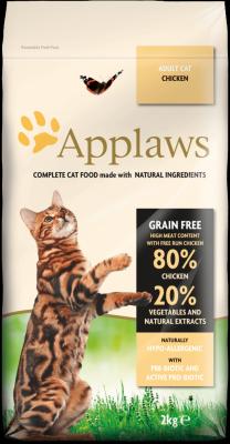 """Applaws Беззерновой сухой корм для Взрослых кошек """"Курица и овощи"""""""