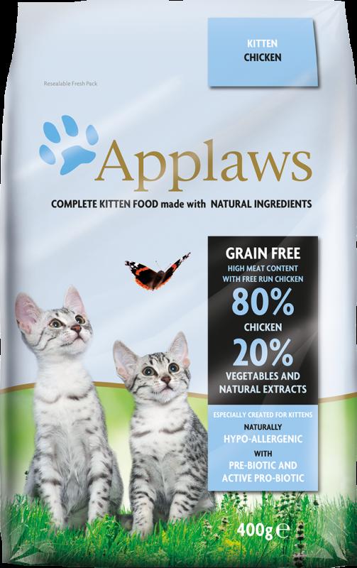 """Applaws Беззерновой сухой корм для Котят """"Курица и овощи"""""""