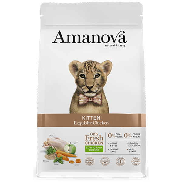 Amanova Kitten Exquisite Chicken cухой корм для котят с изысканной курочкой