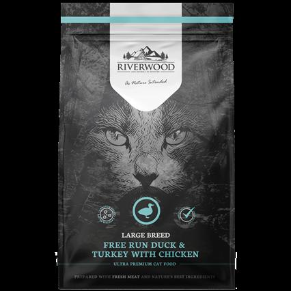 Riverwood сухой корм для кошек Крупных Пород Утка, Индейка и Курица (Riverwood Large Breeds Free Run Duck & Turkey with Chicken)