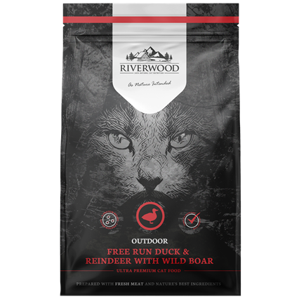 Riverwood сухой корм для Активных кошек Утка, Олень и Дикий кабан (Riverwood Outdoor Free Run Duck & Reindeer With Wild Boar)