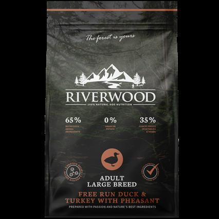 Riverwood Беззерновой сухой корм для собак Крупных пород Индейка, Утка и Фазан (Riverwood Adult Large Breed Free Run Duck & Turkey with Pheasant)