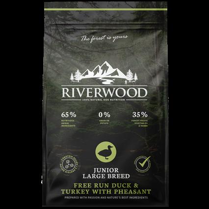 Riverwood сухой корм для Щенков Крупных пород Индейка, Утка и Фазан (Riverwood Junior Large Breed Free Run Turkey & Duck with Pheasant)
