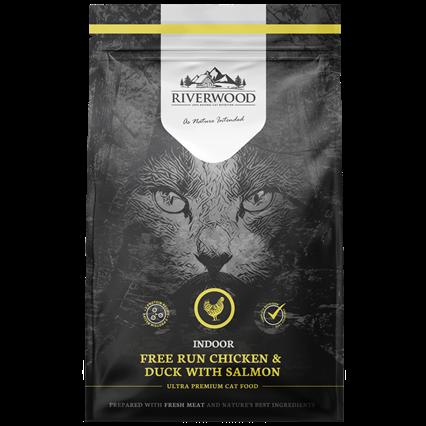 Riverwood сухой корм для кошек живущих в Помещении Курица, Утка и Лосось (Riverwood Indoor Free Run Chicken & Duck with Salmon)